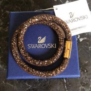 2e923b737b2a7 Swarovski Stardust Brown Double Bracelet NWT